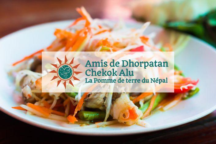 La pomme de terre de Dhorpatan en Thaïlande et à Dubaï