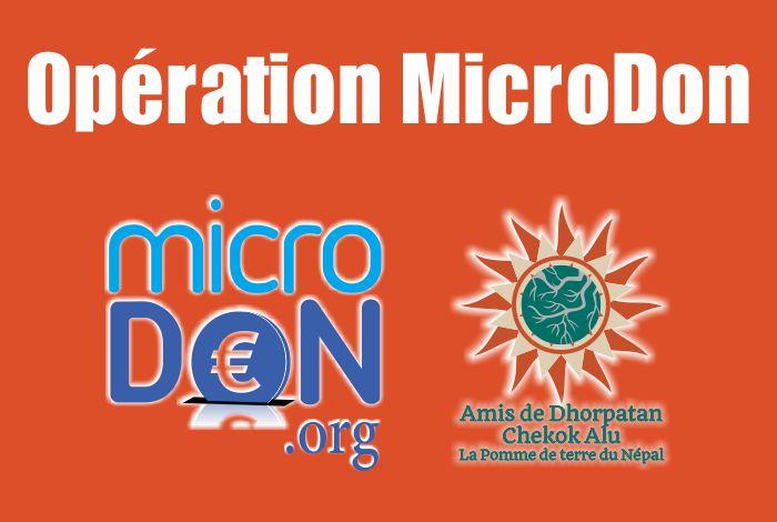 Opération Microdon les 19, 20 et 21 octobre 2018: Un très beau succès !